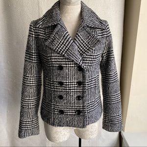 Banana Republic 4/6 Wool Houndstooth Blazer Jacket